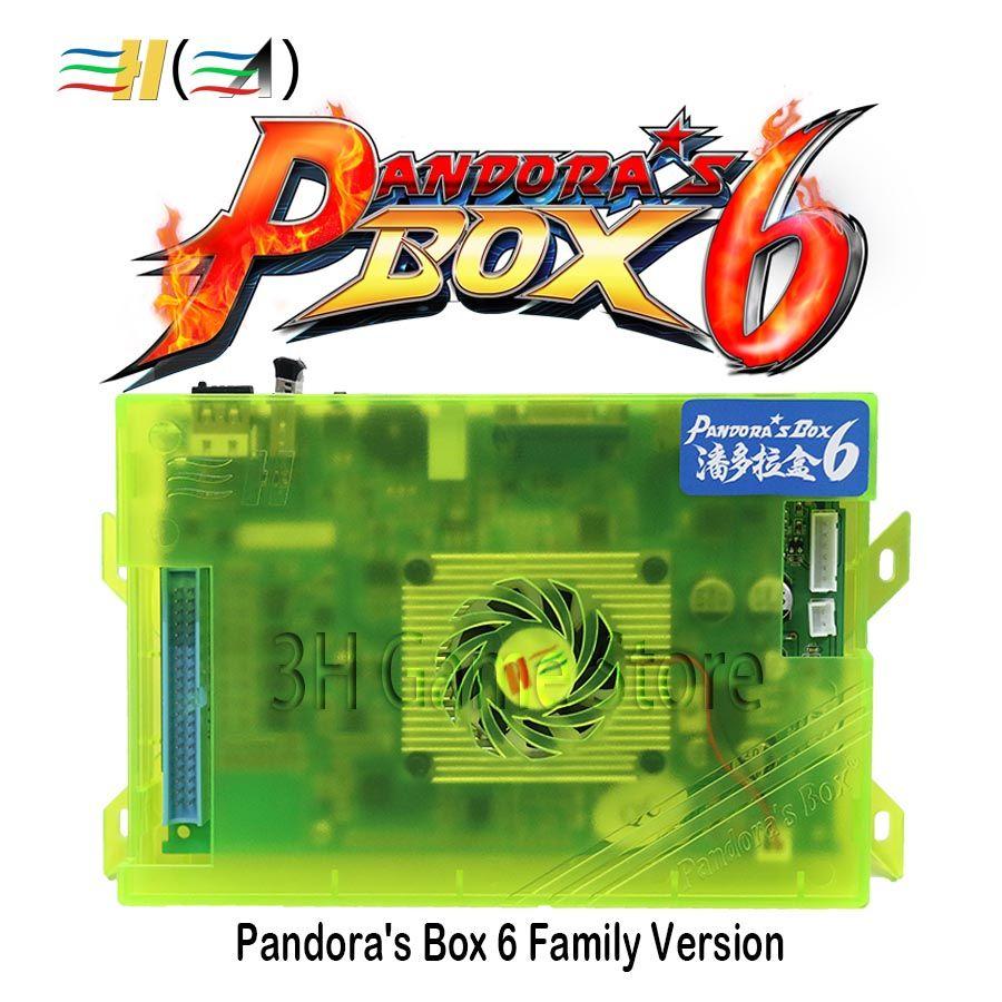Original Pandora's box 6 1300 in 1 familie version konsole Motherboard unterstützung 3d spiel können hinzufügen FBA MAME PS1 spiel bis zu 3000 spiele