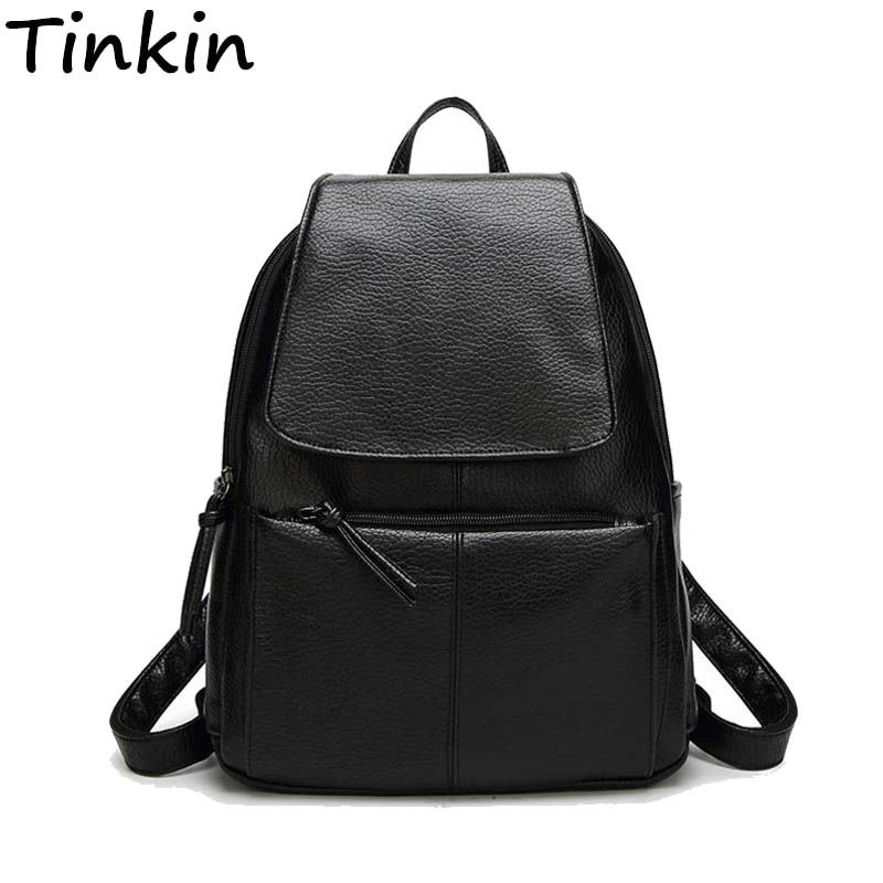 Women Cost-<font><b>effective</b></font> Backpack Vintage College Student School Backpack Bags for Teenagers Vintage Mochila Casual Rucksack Daypack