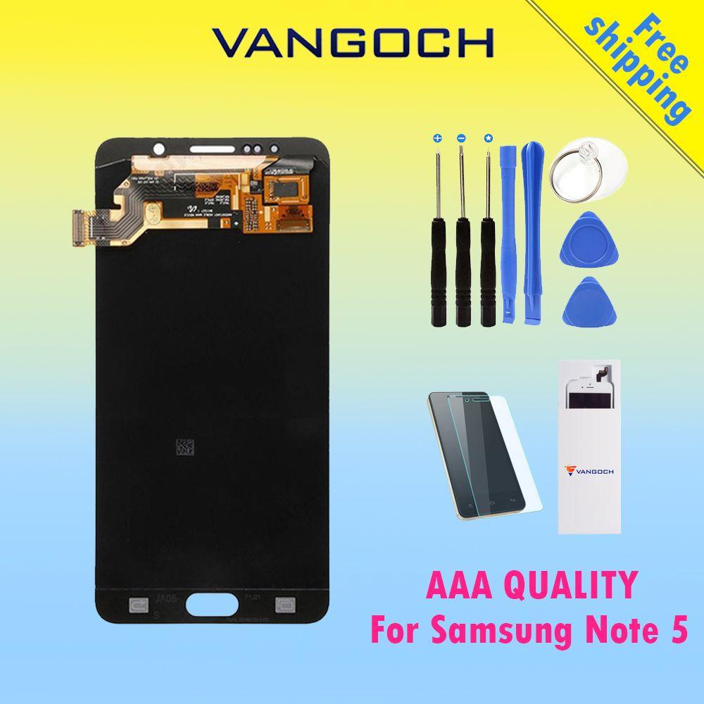 100% Original VANGOCH Lcd-bildschirm für Samsung Galaxy Note 5 N9200 N920G Touchscreen Digitizer Assembly Ersatz Kostenloser Versand