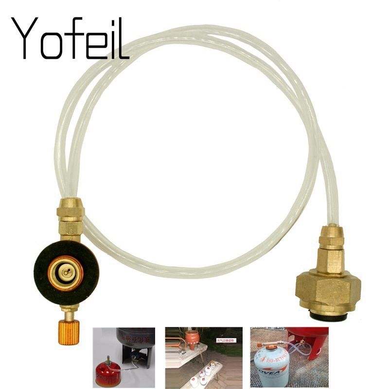 Camping en plein air cuisinière à gaz Propane recharge adaptateur gaz cylindre plat réservoir coupleur adaptateur gaz accessoires de charge
