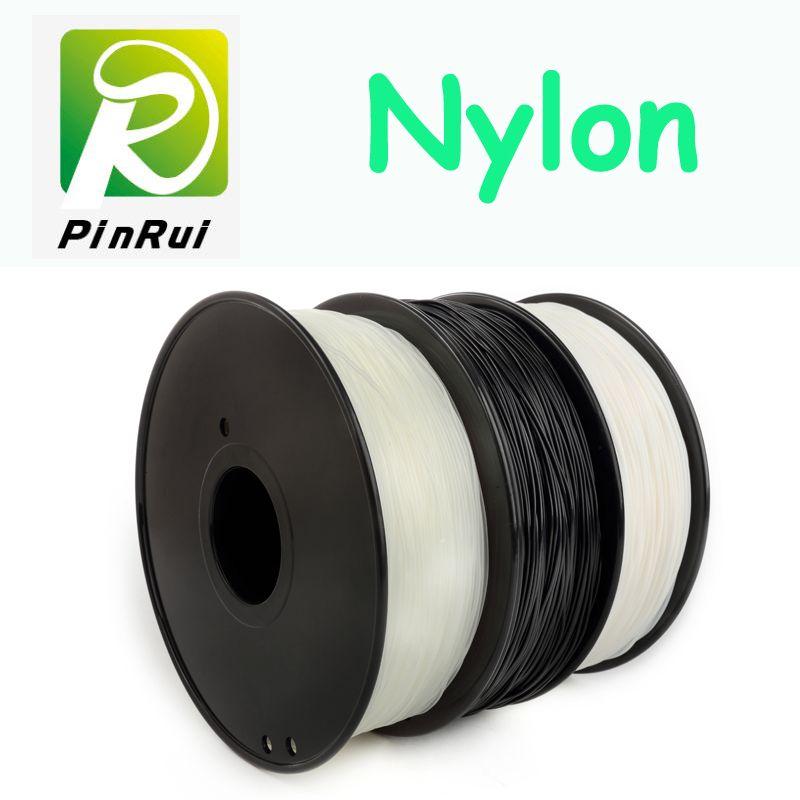 Filament en nylon de haute qualité 1.75mm 3mm choix 3d nylon noir blanc couleur naturelle filament 3d nylon PA 1 kg filamento 3d