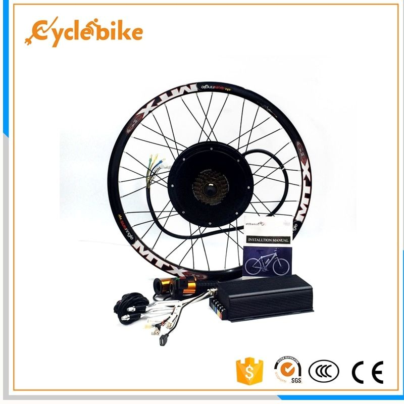 100km/h speed 45H V3 72v 3000w electric bike conversion kit sinewave controller 200A phase current