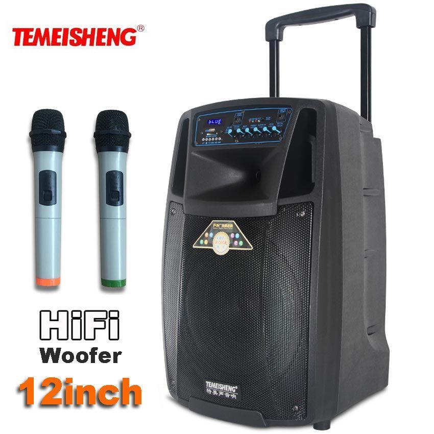 TEMEISHENG Levier SL12 Haute Puissance Portable Haut-Parleur Bluetooth Support de Haut-Parleur Wirelss Microphone En Plein Air Colonne MP3 Lecteur