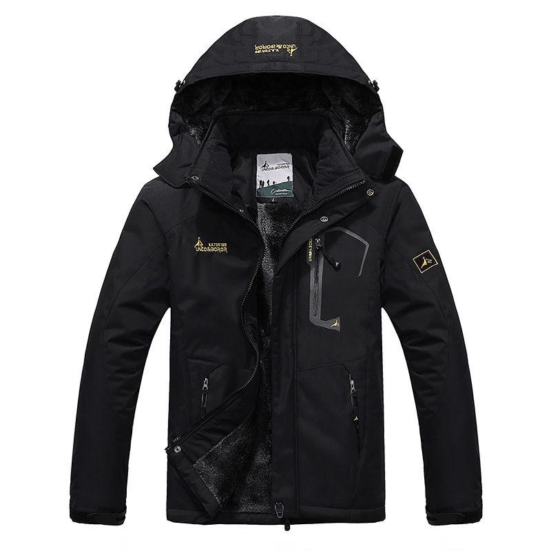 2018 Men's Winter Inner <font><b>Fleece</b></font> Waterproof Jacket Outdoor Sport Warm Brand Coat Hiking Camping Trekking Skiing Male Jackets VA063