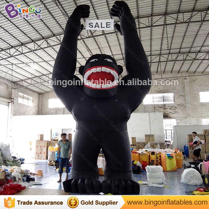 Kostenlose Lieferung dekorative riesigen aufblasbaren Gorilla modell 5,5 Mt hohe qualität werbe cartoon repliken für display spielzeug
