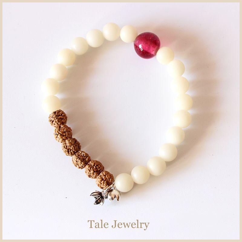 2016 nouvelle mode Rudraksha naturel perles Bracelet femmes bijoux sains fait à la main Yoga méditation Bracelet Unique fête des mères cadeau