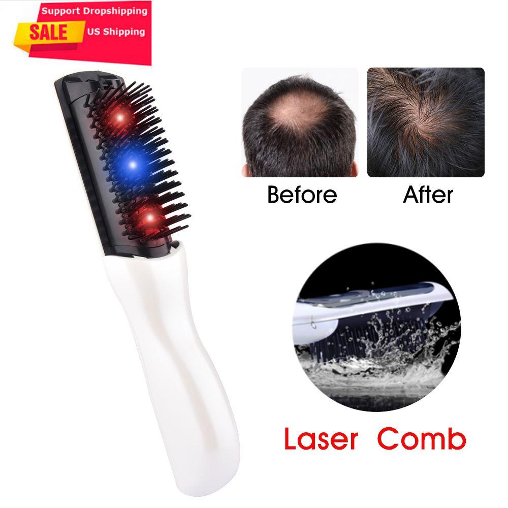 US Stock électrique infrarouge Laser cheveux croissance peigne soins des cheveux style perte de cheveux croissance traitement infrarouge dispositif masseur brosse