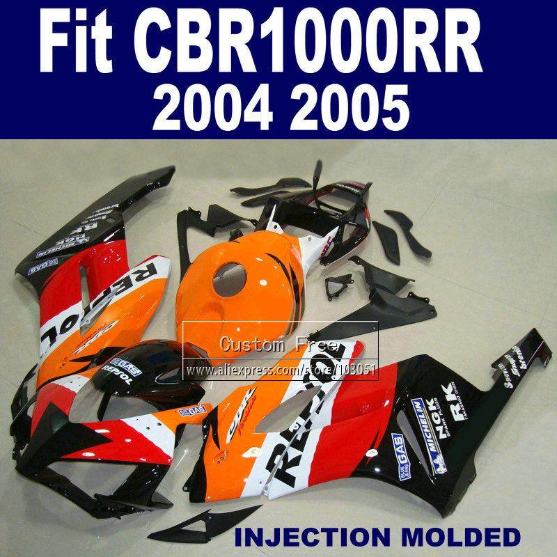 7gifts ABS plastic Injection fairings parts for Honda repsol CBR1000RR 2004 2005 CBR 1000 RR 04 05 CBR 1000RR fairing hulls kits