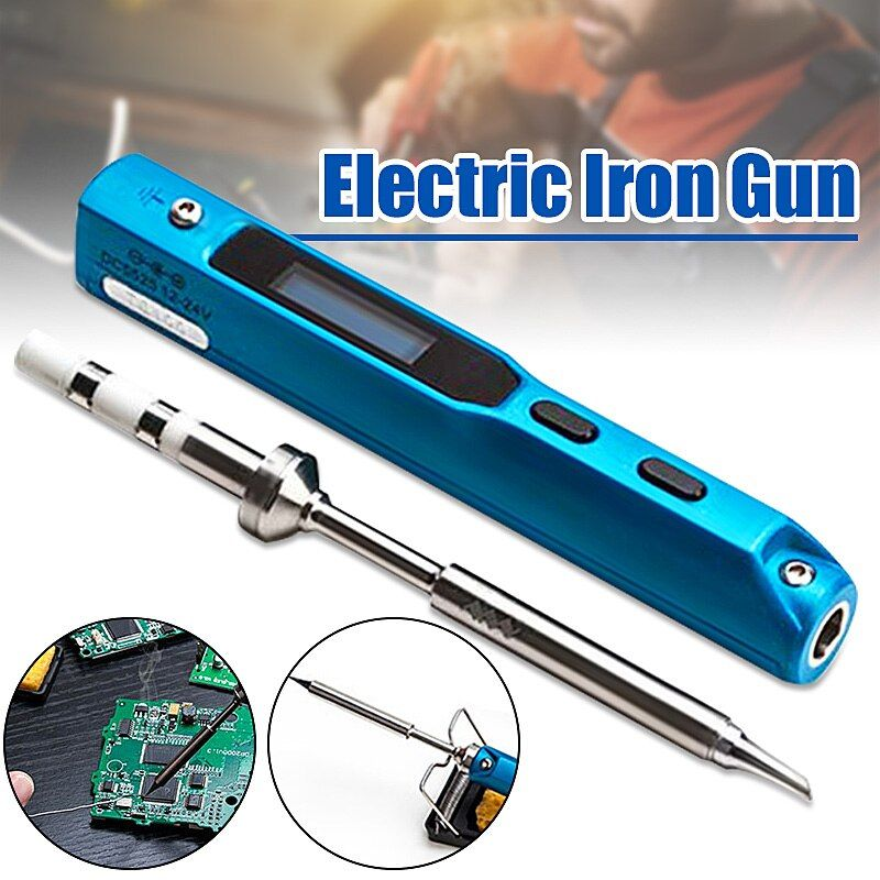 Portable 65W Programmable TS100 Electric Soldering Iron Digital LCD Easy-dismount Design Space Saving With Russian Manual