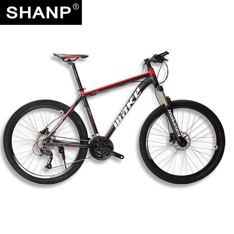 MAKE Mountain Bike Aluminum Frame 17 19 Shimano 27 Speed 26 27,5 Wheel Hydraulic/<font><b>Mechanical</b></font> Brake