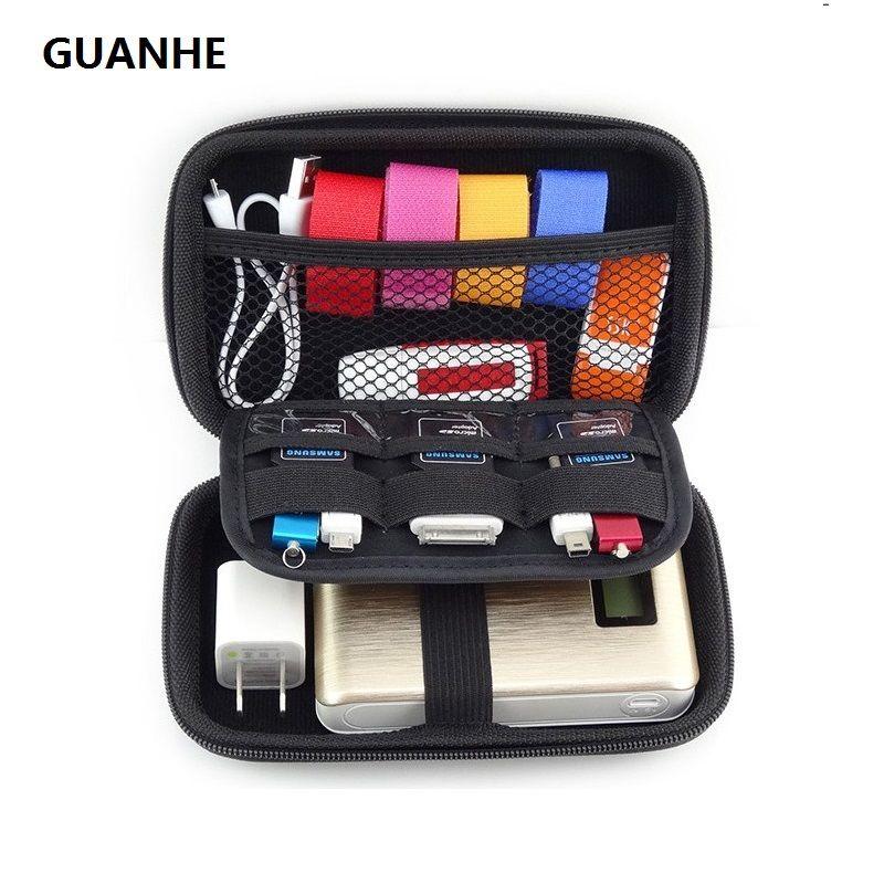 Guanhe Водонепроницаемый кожа рук Carry жестких дисков сумка чехол отделения для 2.5