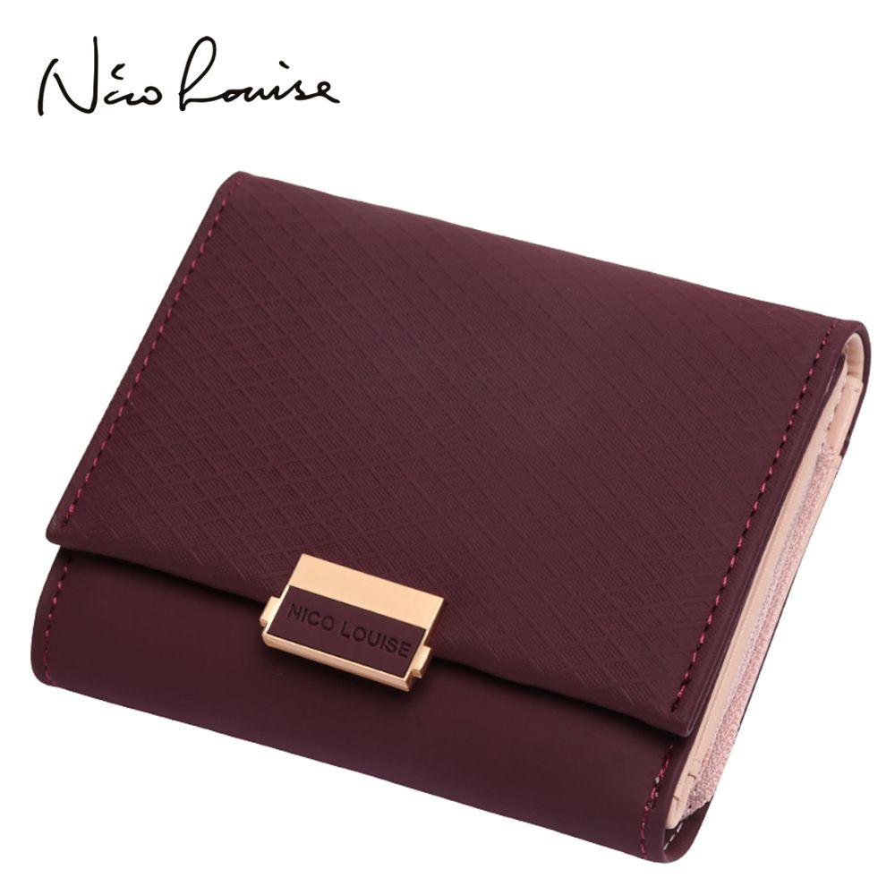 2018 portefeuille de luxe femme en cuir femmes sac à main en cuir Plaid portefeuille dames Hot Change porte-carte monnaie petits sacs à main pour les filles