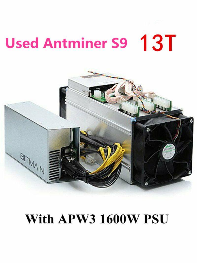 Verwendet BITMIAN S9 13TH/S Mit APW3 1600W Asic Bitcoin BTC Miner AntMiner S9 16nm Btc Miner Wirtschafts als WhatsMiner M3 M3X