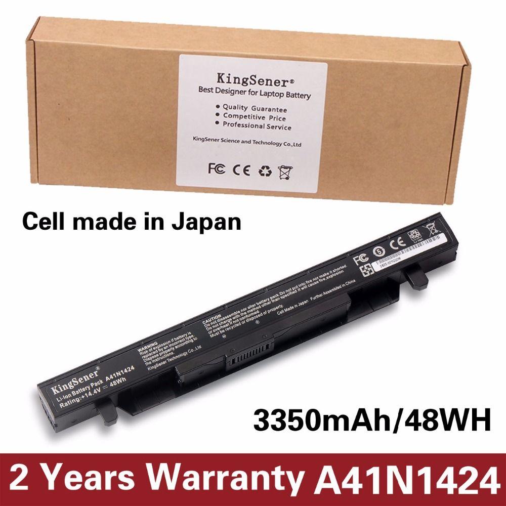 KingSener A41N1424 Laptop Battery for ASUS ROG ZX50 ZX50J ZX50JX ZX50V ZX50VW GL552 GL552J GL552JX GL552V 14.4V 3350mAh