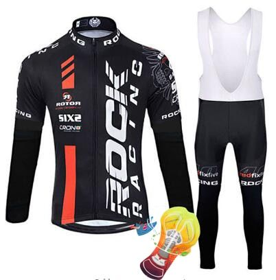 2018 rock Cycling Jersey Sets Long Sleeve Mountain Bike Clothes Wear Maillot Ropa Ciclismo Quick Dry Racing Bicycle Clothing