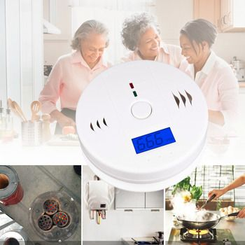 1pcs CO Carbon Monoxide Poisoning smoke Gas Sensor Warning Alarm Detector Tester LCD Hot Worldwide