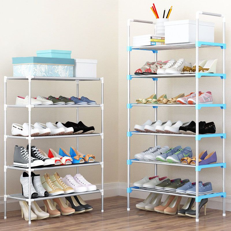 Shoe Rack Easy Assembled Plastic Multiple layers Shoes Shelf Storage Organizer Stand Holder Keep Room Neat Door Space Saving
