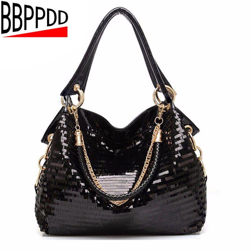 BBPPDD Leather Women tote Bag Shoulder Bags large Solid Big Handbag Large Capacity Top-handle Bags Herald Fashion Black