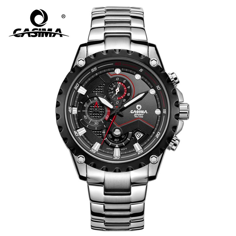 CASIMA men wrist watch sport men watches fashion <font><b>quartz</b></font> watch luminous waterproof watch men multifunction relogio mascul # 8203