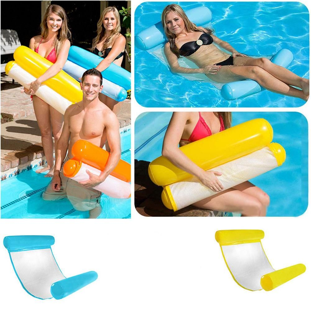 LeadingStar Floating Float Water Swimming <font><b>Inflatable</b></font> Hammock Pool Lounge Bed Chair