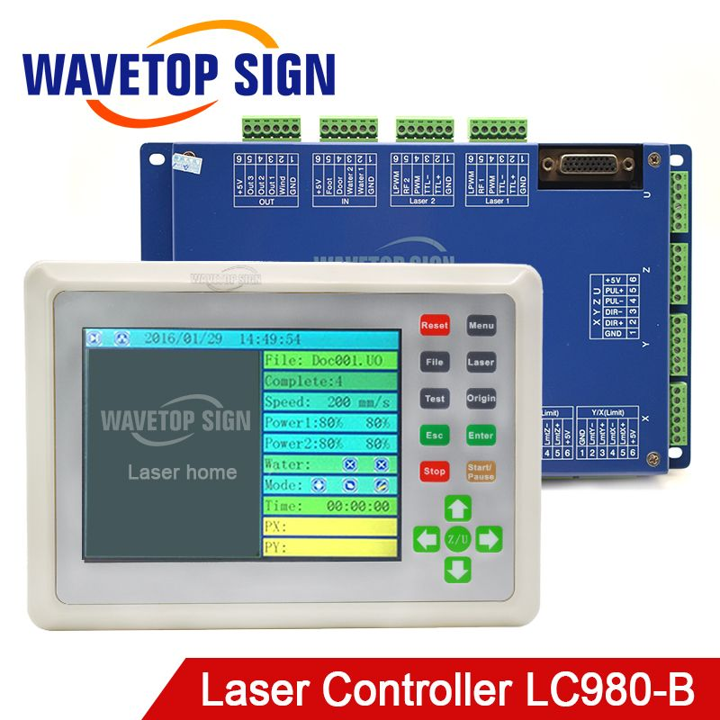 Laser Machine Control Card LC980-B True Color Motion Control Card Whole Set Include Cable Panel and Control Card