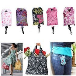 New Foldable Handy Shopping Bag Reusable Tote Pouch Recycle Storage Handbags Home Storage Organization Bag