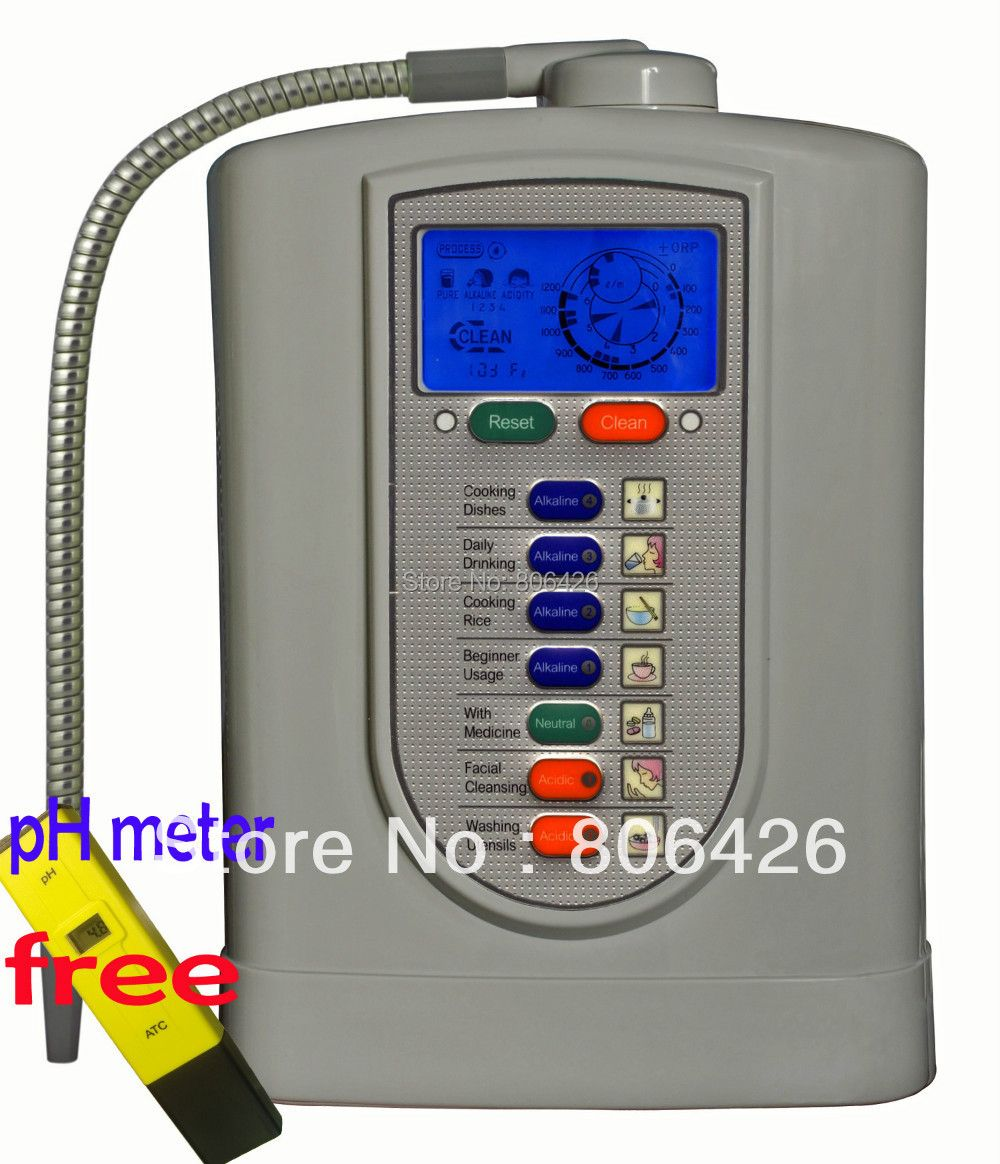Free Shipping Kangen Alkaline water ionizer(Japan Tech,Taiwan made) with built-in NSF filter+pH Meter gifted