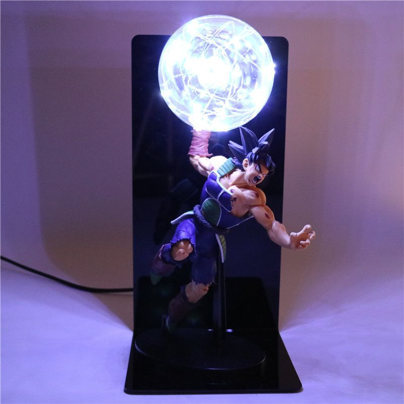 Action Figures Collectible Dragon Ball Z Figurine Goku Father DIY Anime Model Baby Dolls Light for Children Kids Toys TD-0013