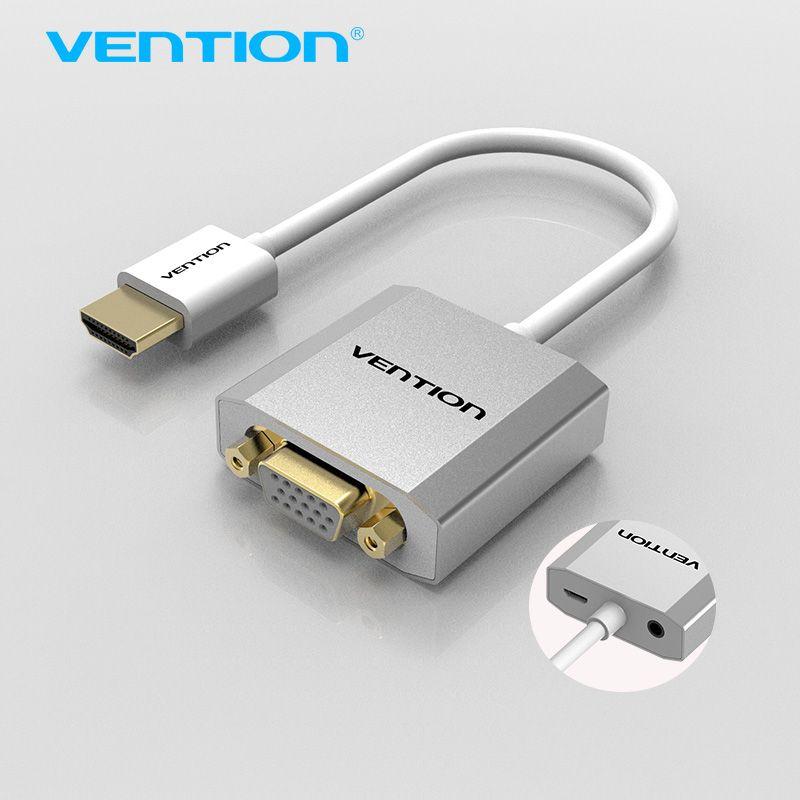 Convention HDMI à VGA Adaptateur Convertisseur Câble avec micro USB power 3.5mm audio HDMI VGA Connecteur pour XBOX PS3 PS4 HDTV PC ordinateur portable