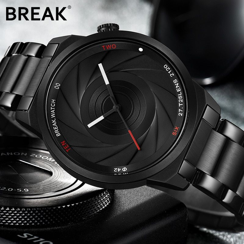 Break Unique Design Photographer Series Men Women Unisex Brand Wristwatches Sports Rubber Quartz Creative Casual Fashion Watches