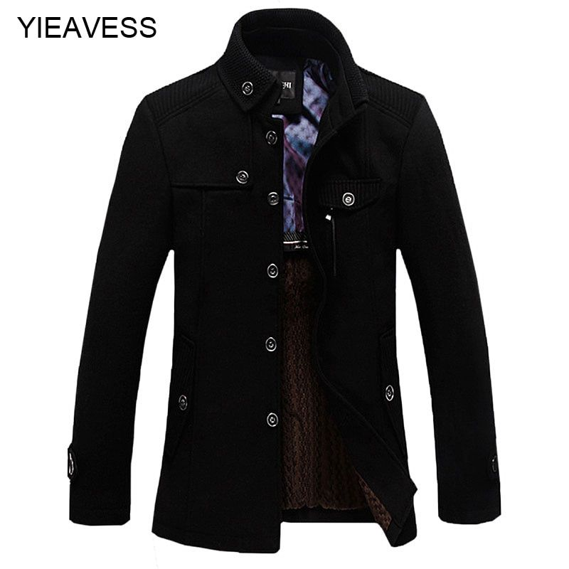 New Brand Clothing 2018 Winter Jakets For Men And Parks Stand-up Collar Men's Windbreaker Jacket Thickened Woolen Coat MC347