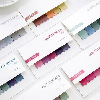 DIY градиент Цвет Творческий Офис Новинка Стикеры для планирования наклейки страница индекс почта школьные принадлежности канцелярские