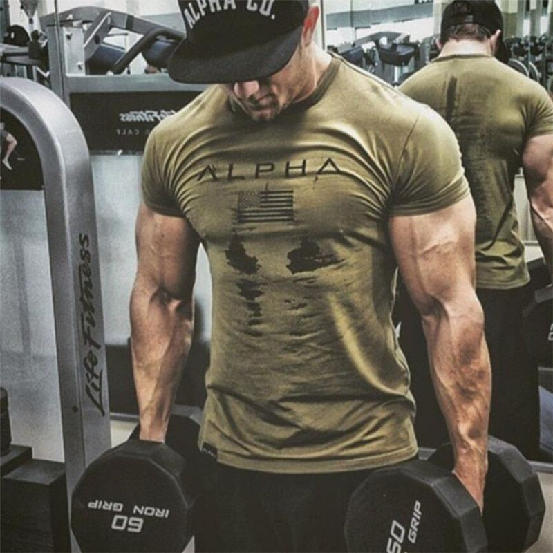 New Mens Brand gyms t shirt Fitness Bodybuilding Crossfit Slim Cotton Shirts Men Short Sleeve workout male Casual Tees Tops
