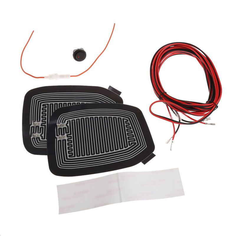 1Set Universal Quick Warm 12V Car Side Mirror Glass Heater Heated Defogger Pad Mat Drop shipping