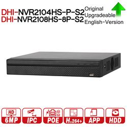 DH NVR2104HS-P-S2 NVR2108HS-8P-S2 4/8 CH POE NVR 1U PoE Network Video Recorder Full HD 6MP Record For IP Camera with logo