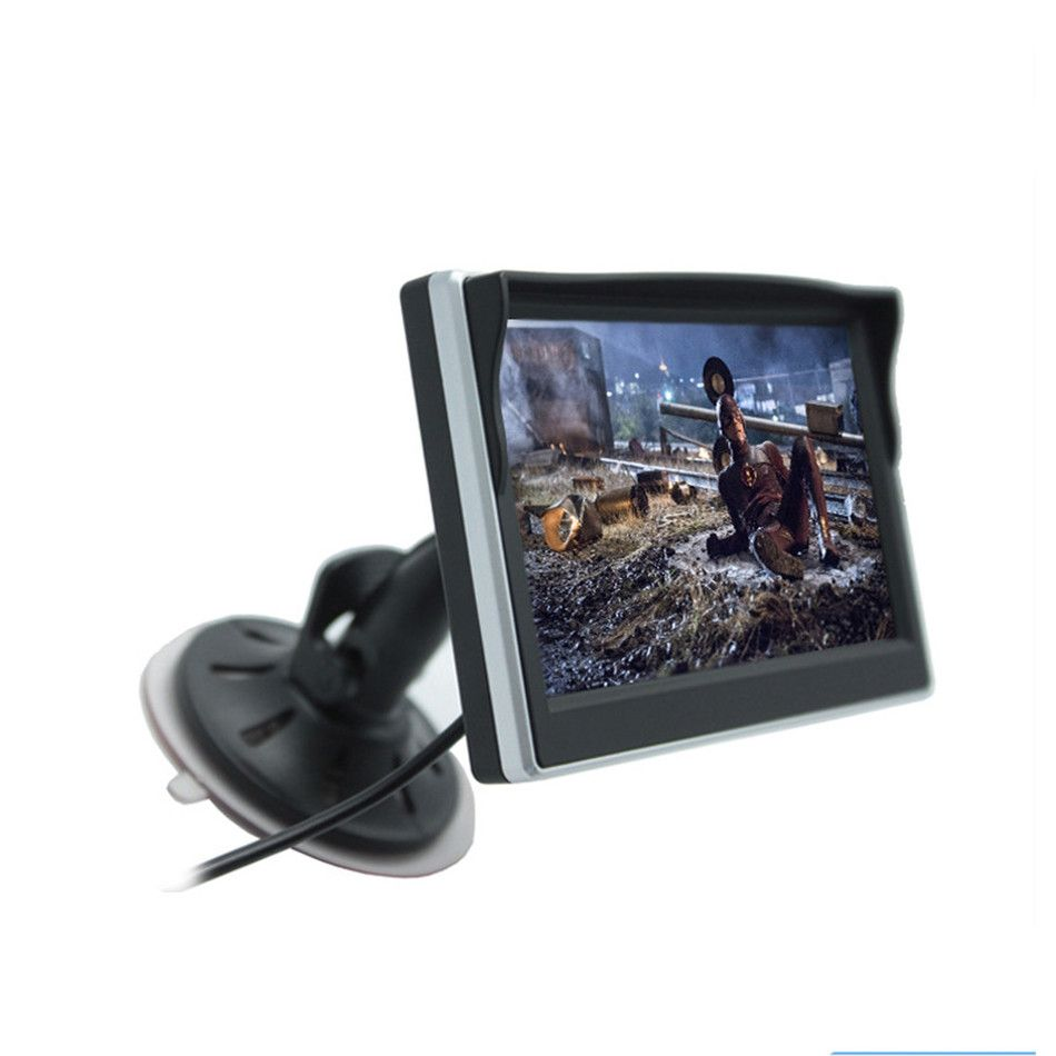 5 Inch Car monitor TFT LCD Screen HD Digital Color Car Rear <font><b>View</b></font> Monitor Support VCD / DVD / GPS / Camera