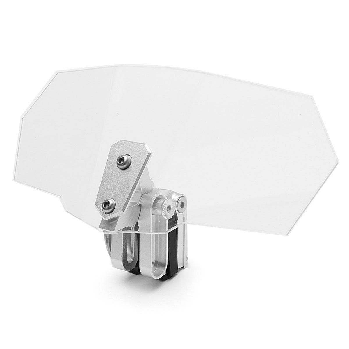 Unversal Aluminum Motorcycle Adjustable Clip On Windshield Extension Spoiler Windscreen Screen Deflector Spoiler wind deflector