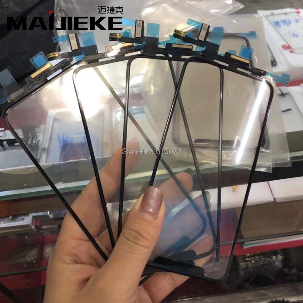 MAIJIEKE AAA Touchscreen Digitizer Ersatz für iPhone X LCD Outer Glasabschlussscheibe Ersatzteile