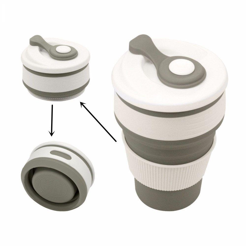 Tasses à café voyage pliable Silicone tazas portables pour l'extérieur Camping randonnée pique-nique pliant bureau tasses à eau sans BPA