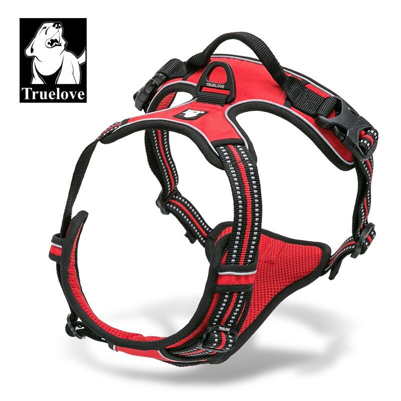 Truelove Front Range <font><b>Reflective</b></font> Nylon large pet Dog Harness All Weather Padded Adjustable Safety Vehicular leads for dogs pet