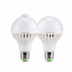 ЕС 220 светодиодный ночник движения тела активирована на/Off движения PIR Сенсор светодиодный лампы Звук Светодиодная лампа с датчиком 5 W 7 W 9 W 12 ...