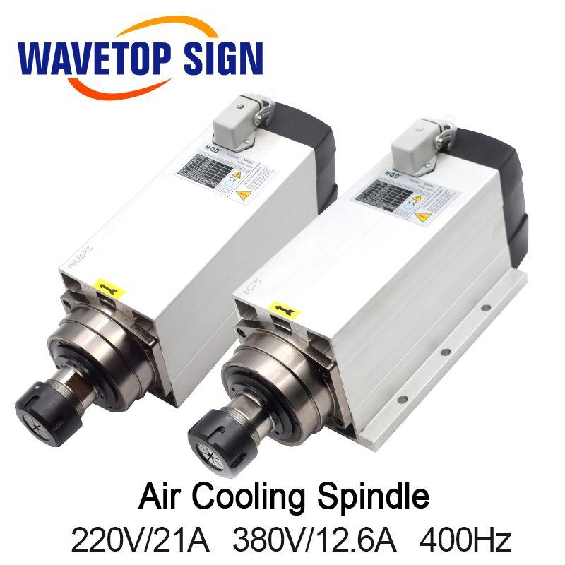 Luftkühlung Spindel mit Festen Sitz GDF60-18Z-6.0 6kw 220 V 21A 380 V 12A 18000 rpm 300 HZ Chuck Mutter ER32
