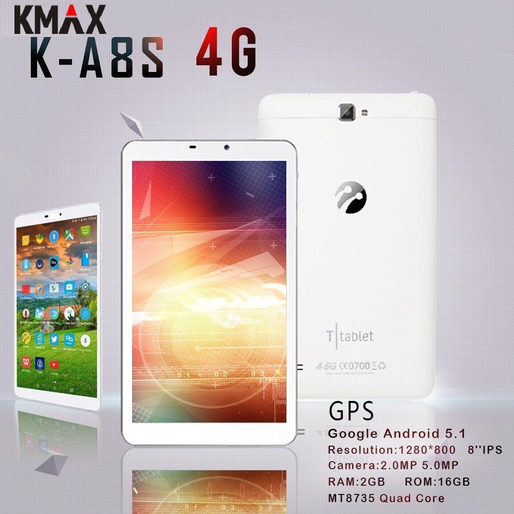 KMAX 8 pouce 4g lte Téléphone Appel Tablet PC android Quad Core 2 gb 16 gb RAM 5MP Caméra wifi bluetooth Phablet avec mini pad cas 7 10