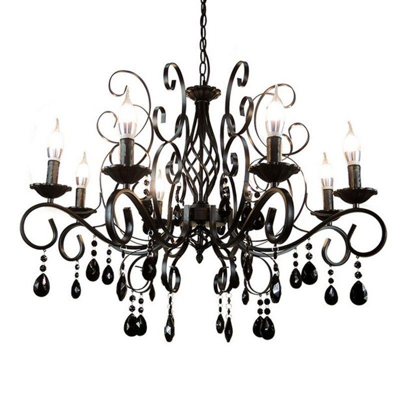 E14 Led ampoule bougie lumière lampe européenne rétro lustre métal corps verre cristal décoration luminaire