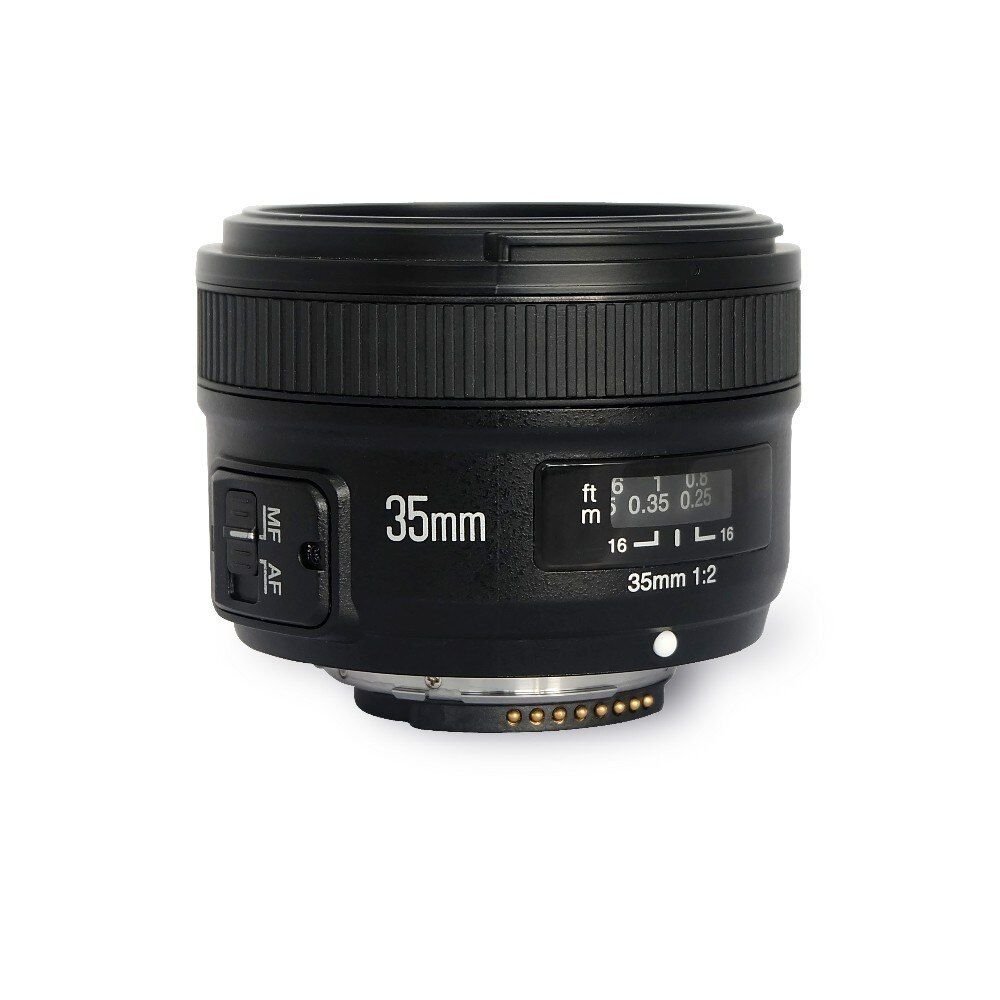 YONGNUO YN35mm F2.0 Wide-angle AF/MF Fixed Focus Lens for Nikon F Mount D7500 D7200 D7100 D5600 D3200 D3300 D3100 D5100 D300 D90