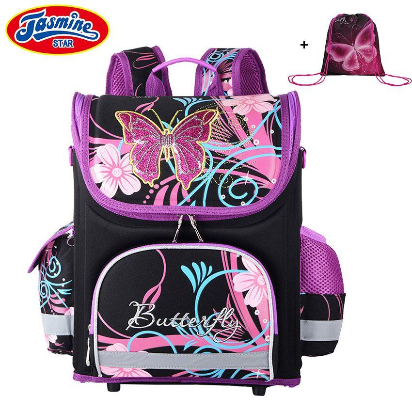 JASMINESTAR Children's Backpack <font><b>Kids</b></font> Cartoon School Bags For Boys Anime School Backpack For Girls Orthopedic Schoolbag