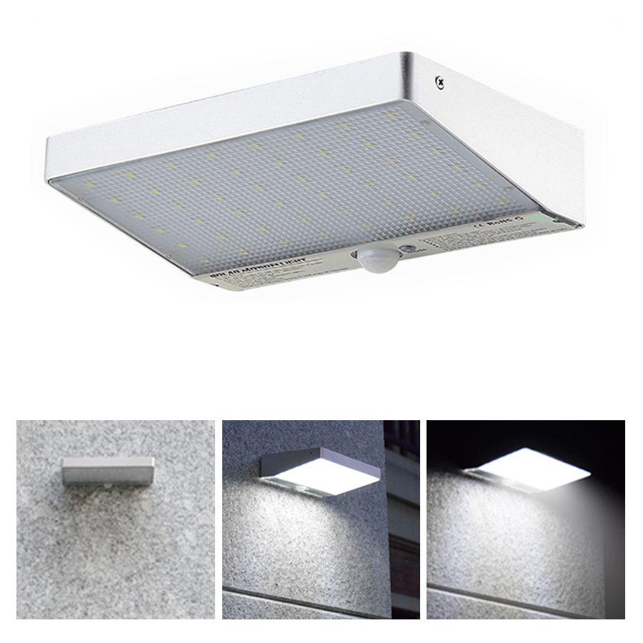 Mouvement solaire 48 LED Lumière Lampe Solaire Avec Capteur De Mouvement Humain Lumineux Superbe de Tache de Sécurité Lumière 4modes Pour Extérieur jardin