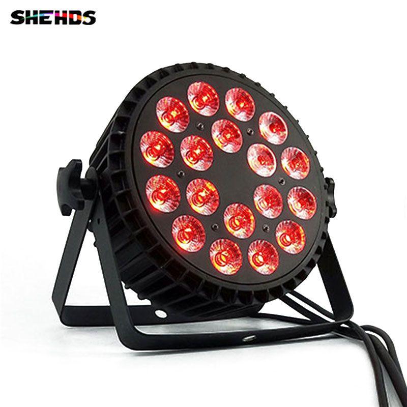 Aluminum Alloy LED Par 18x12W RGBW 4in1 LED Par Can Led Par Light DMX Stage Lights or Party KTV Disco DJ Lamp DMX512 4/8CHs