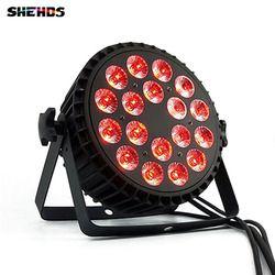 En Alliage d'aluminium LED Par 18x12 W RGBW 4in1 LED Par Can Led Par lumière DMX Lumières de la Scène ou Partie KTV Disco DJ Lampe DMX512 4/8CHs