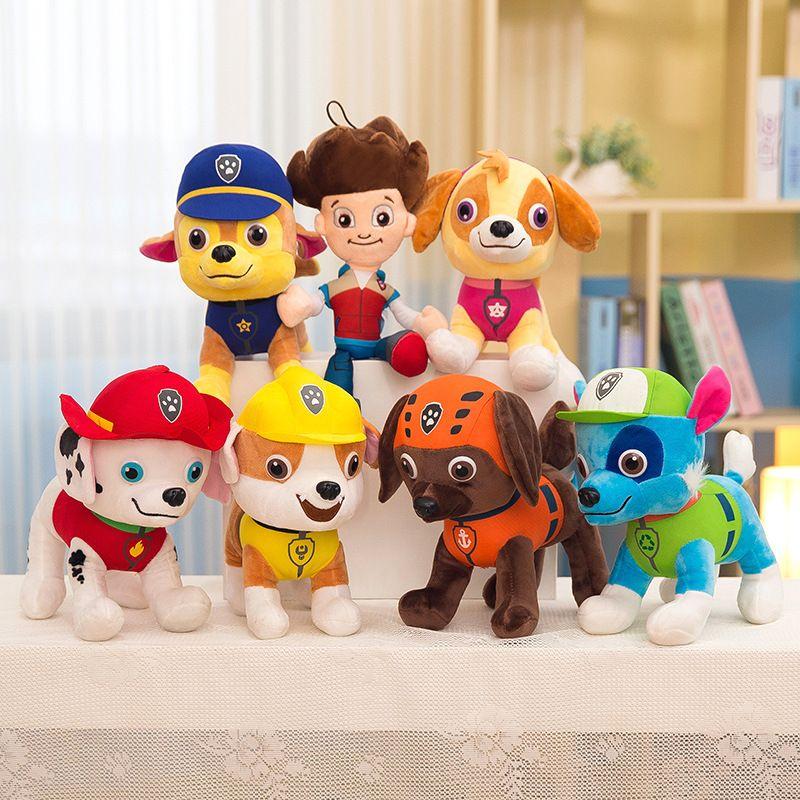 30 CM pat' patrouille Kawaii peluche Anime personnage coton doux chiot canin poupées TV diffusion chien sauvetage jouets pour enfants 2D04